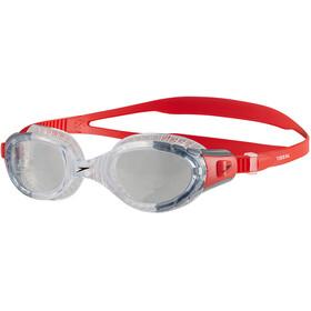 speedo Futura Biofuse Flexiseal Goggles Unisex, lava red/clear